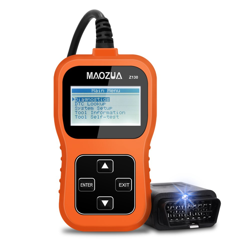 MAOZUA OBD2 Scanner Z130 Automotive Vehicle Code Reader for Check Engine Light Read Live Data and Clear Error Code for Universal OBD2 Protocol Vehicle Support Multi Language