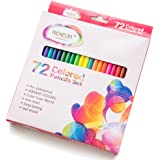 Reaeon 72 Colored Pencils Set, Coloring Drawing Pencil Art Pack with Woodeen Pre-Sharpened Soft Core for Adults Coloring Books, Sketching - No Duplicates Great School Supplies for Kids