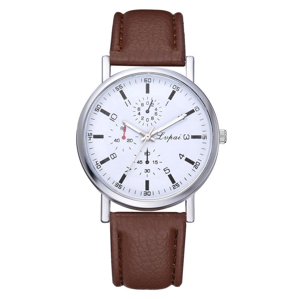 Men's Watches, VANSOON Unisex Fashion Mesh Watches Men's and Women's Watches Quartz Analog Watches Gift Business Bracelet Watches Retro Design Digital Watch for Men Clearance