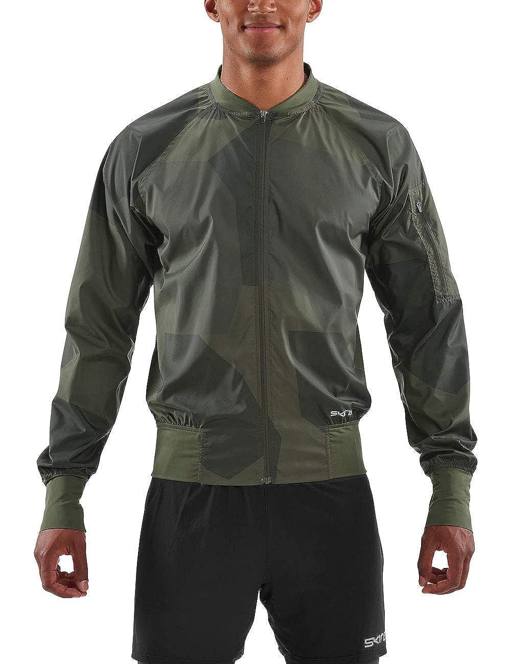 Skins Activewear Orsa Mens Bomber Run Jacket Deconstructed Camo Ut X-Large Utility