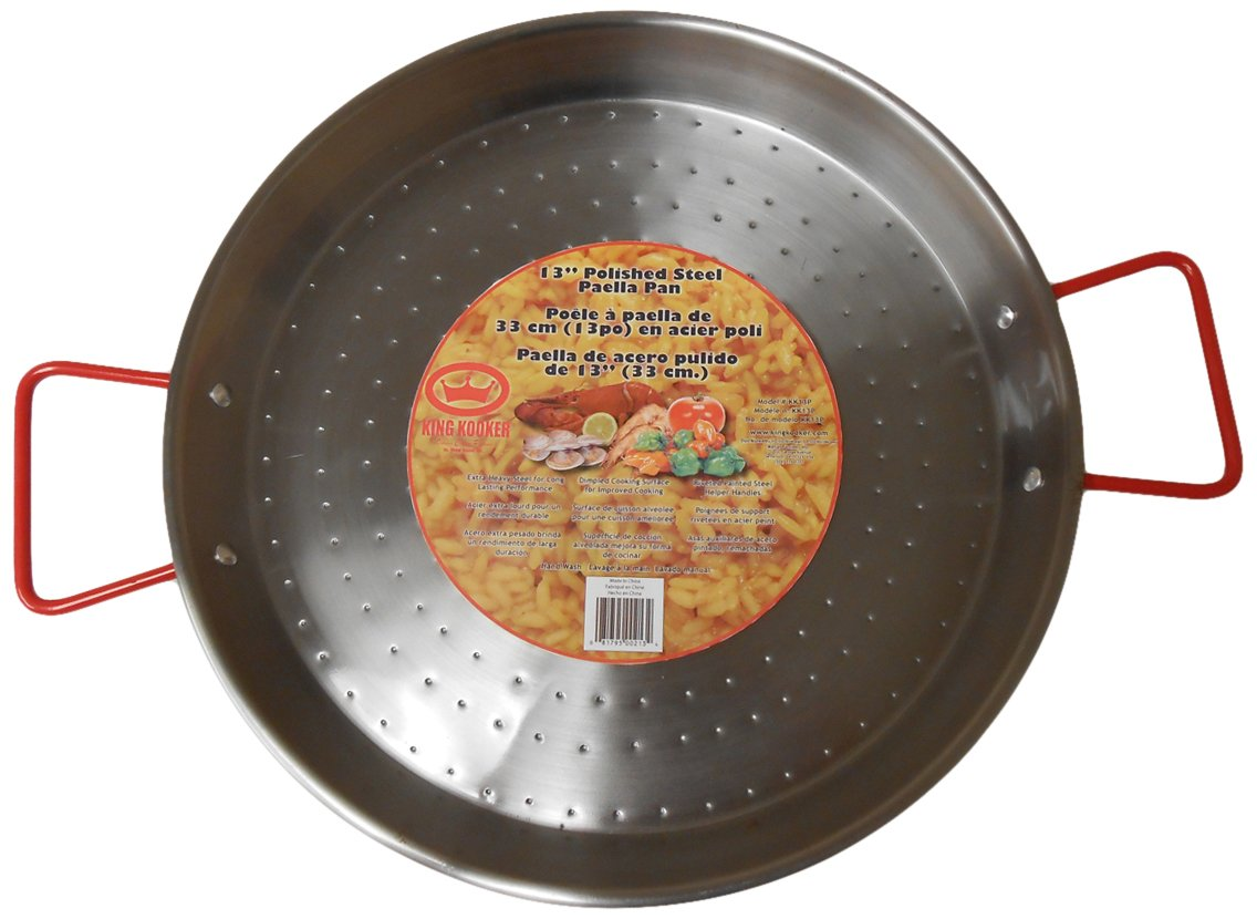 King Kooker KK18P Carbon Steel Paella Pan, 18-Inch