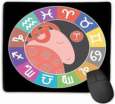 ELIST 25X30cm Alfombrilla de ratón Aries Signos del Zodiaco ...