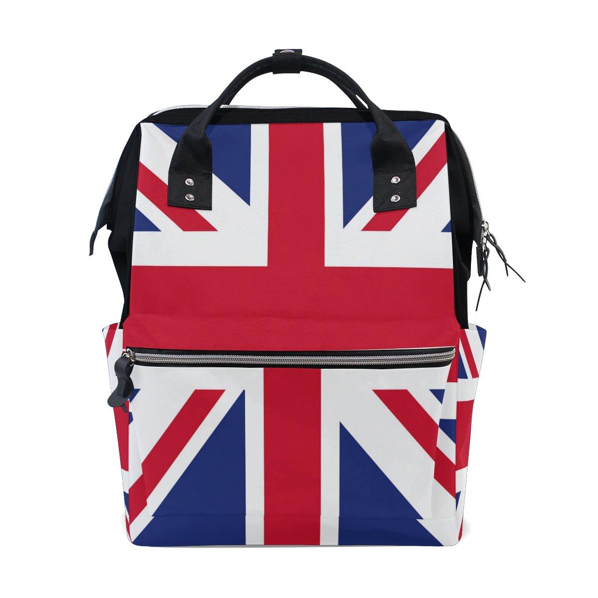 Wozo UK Flagイギリス国旗多機能おむつバッグバックパック旅行バッグ   B07D6L1N49