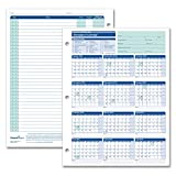 ComplyRight Academic Year Attendance Calendar, 2018-2019, Pack of 50 (A4300AMZ)