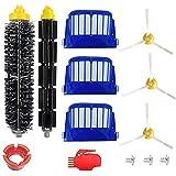 Juego de Piezas de Repuesto para Aspiradora | Accesorio para Irobot Roomba | Series 600 610 620 650 | Incluye Paquete de 3 Fi