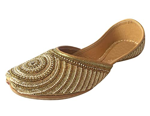 c1192c52b416 Step n Style Ladies Flat Jutti Ehhnic Handmade Shoe Indian Shoes Saree  Slippers Juti  Buy Online at Low Prices in India - Amazon.in