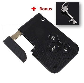 Remote Key Case Fob cubre el reemplazo de tarjeta llave de 3 botones para Renault Clio Megane Scenic Gran Keyc by Keyfobworld: Amazon.es: Electrónica