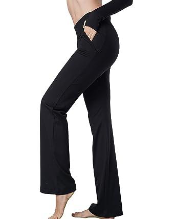 289436f69c03d Harsmile Women's Stretch Bootcut Yoga Pants with Pockets, Tummy Control  Workout Fitness Work Slacks Bootleg Yoga Leggings
