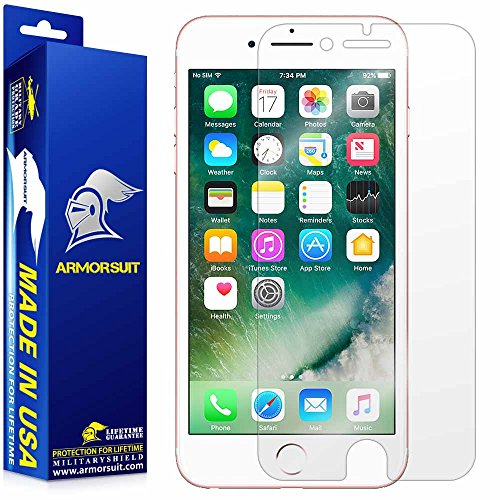 Armor Shield - ArmorSuit Apple iPhone 7 Plus Screen Protector MilitaryShield Max Coverage Screen Protector Compatible with iPhone 7 Plus - HD Clear Anti-Bubble