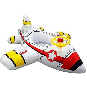 Clerfy Acc Flotador Flamenco para Niños y Adultos, Flamenco Hinchable De Piscina, Lindo el avión Colchonetas Piscina para Baños De Sol (1)