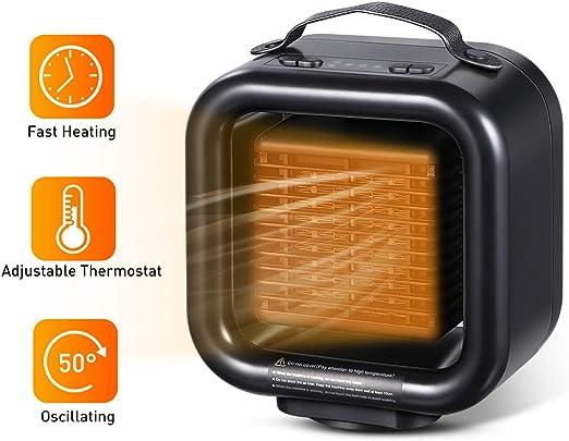 Amazon Com Vosarea Silent Small Electric Heater Space Ceramic