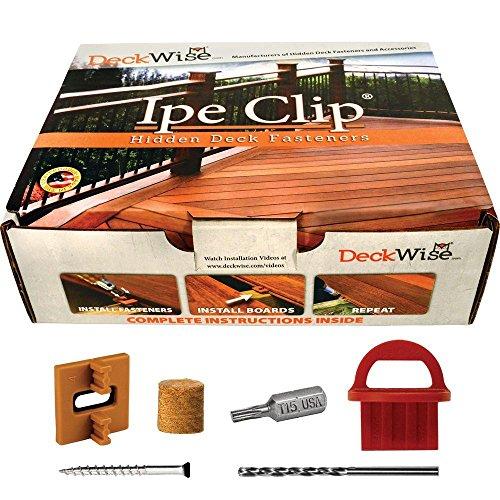 DeckWise Ipe Clip EXTREME4 Hidden Deck Fasteners, 5/32
