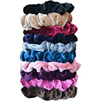 DA2S Hair Ties For Girls Scrunchies Women Elastic Pack of 10 Colors