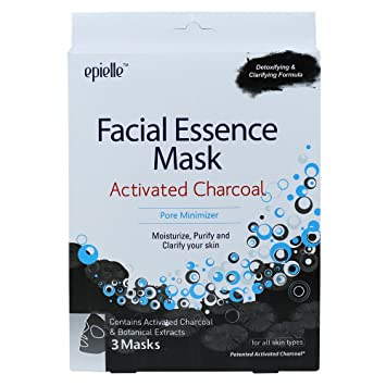 Epielle Premium Charcoal Clarifying Mask (9 pack) Beauty Photon LED Light Cold Warm Ionic Positive Negative Ion Portable Hammer Device