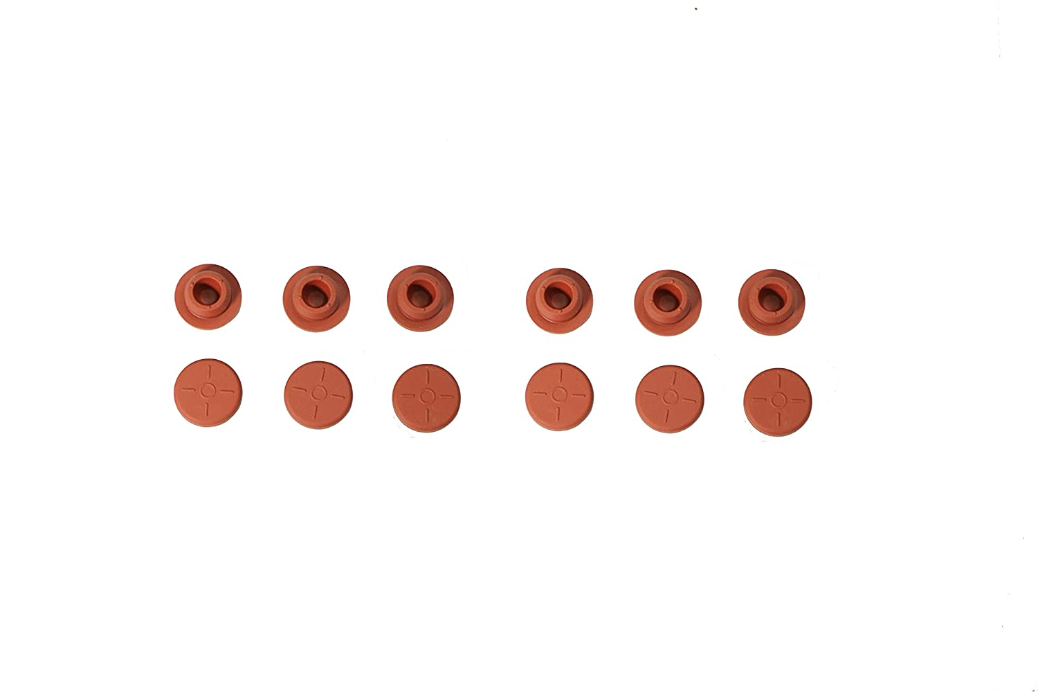 Mm Red 380 Pcs Per Bag,Size For13.1 Plug X19 Seal Flange DR-COMPONENT Self Healing Injection with 1 Ports Bottle Sealing Stopper Plug Nature Rubber