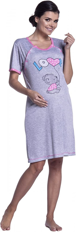 Camicia da Notte pr/émaman Gravidanza Allattamento Donna Zeta Ville 141c