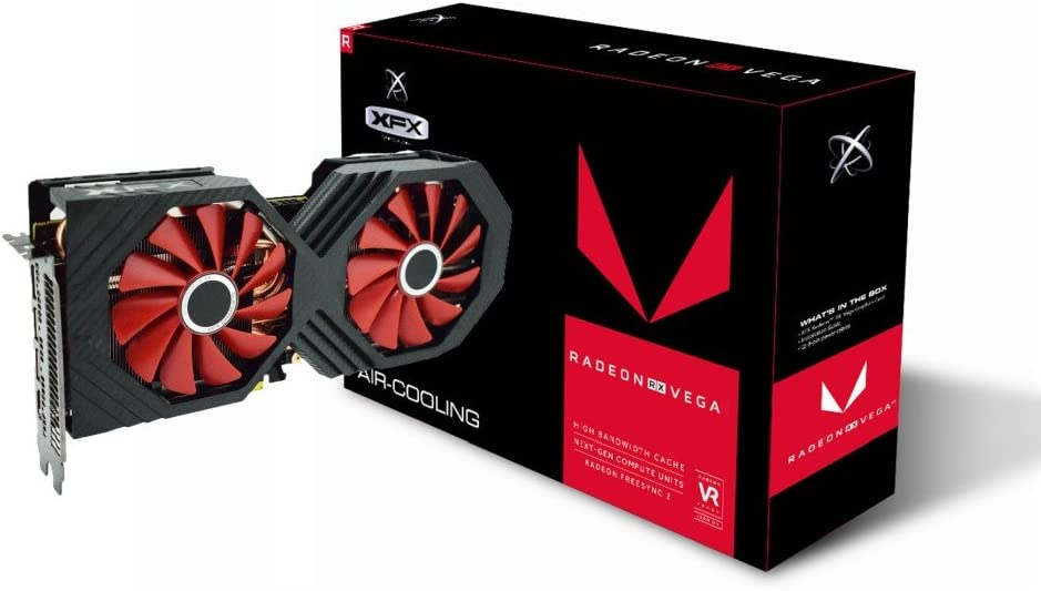 XFX Radeon Rx Vega 56 8GB HBM2 PCI Express 3.0 Graphics Card Graphic Cards RX-VEGALDFF6