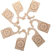 NUOBESTY 7Pcs Baby Closet Dividers Durable Baby Clothes Organizers Wardrobe Dividers Wooden Clothes Divider Baby Card…