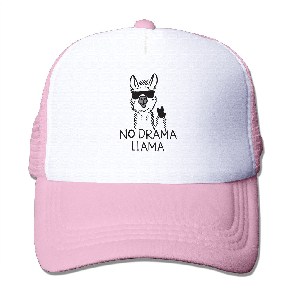 DACHEN Adut No Drama Llama Snapback Baseball Cap Outdoor Sports Mesh Hat Sun Hats Black