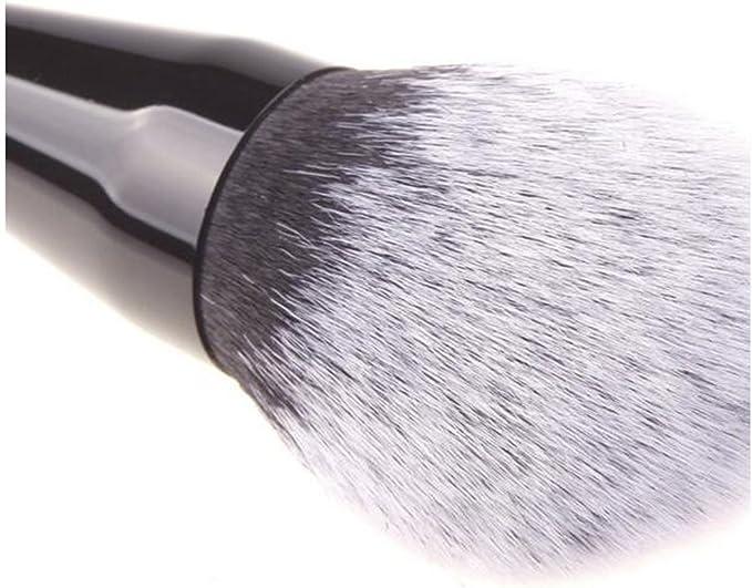 Lydia® Negro Grande Fluffy Flawless Maquillaje facial cepillo + ...