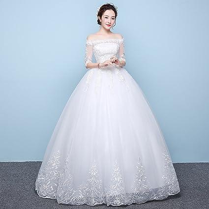 a59fb1665c Summer long-sleeved Qi wedding dress pregnant women high waist large size  fat MM thin bride wedding dress