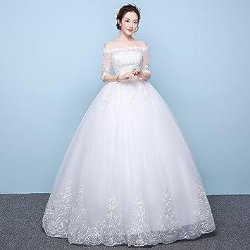 Desconocido Verano de manga larga Qi vestido de novia de las mujeres embarazadas de cintura alta