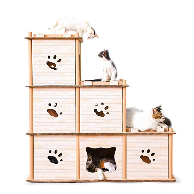 LEDU Cat House Gato Cama Gato Gato Escalada Marco De Múltiples Capas ...