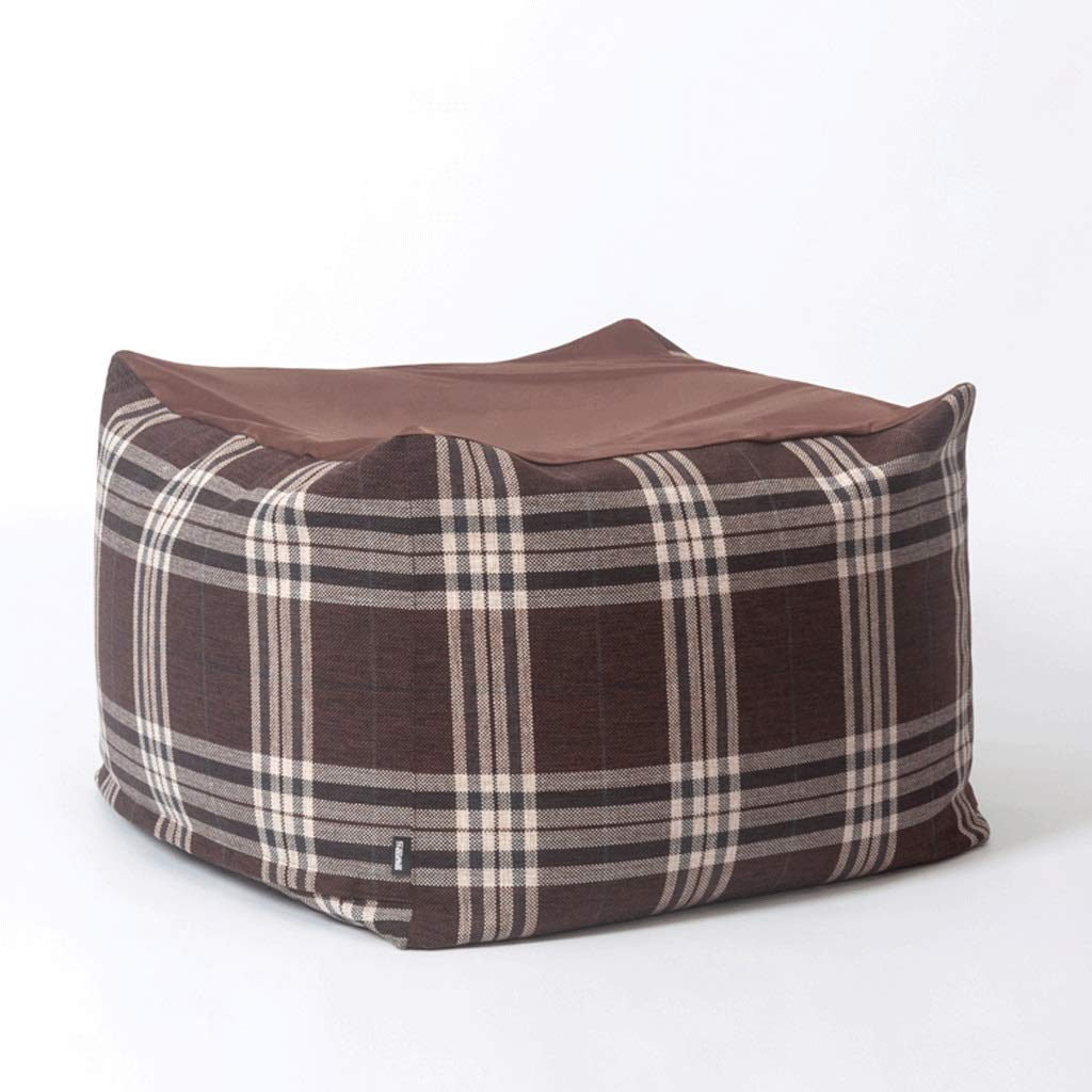Awe Inspiring Amazon Com Zcx Square Lazy Bean Bag Plaid Fabric Bean Bag Pdpeps Interior Chair Design Pdpepsorg