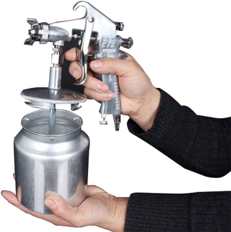 ZBHW Pistola pulverizadora de Aire de alimentación por Gravedad 600CC Taza pulverizadora de Pintura Aerógrafo Kit de Herramientas de Pintura con Boquilla 1.5 MM 1.7 MM