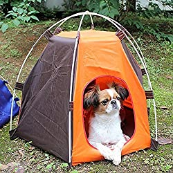VIPASNAM-Outdoor Removable Washable Camping Dog Cat Pet Tent House Waterproof Taffeta