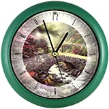 Songbird Essentials Thomas Kinkade Bridge Of Faith Clock Wall Or Desk Plays Amazing Grace Hourly