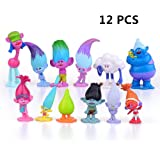 EU-Pretty Seller Dreamworks Movie Trolls Dolls 12pcs Mini Figure Bambola da collezione 3-7 cm Action Figures Cake toppers