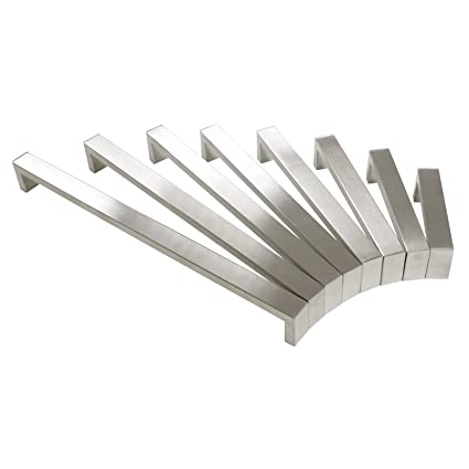 Probrico 10 pcs cepillado níquel Bar armario de cocina tirador de puerta asas baño y dormitorio puerta tiradores acero inoxidable 8 tamaño (96 mm, ...