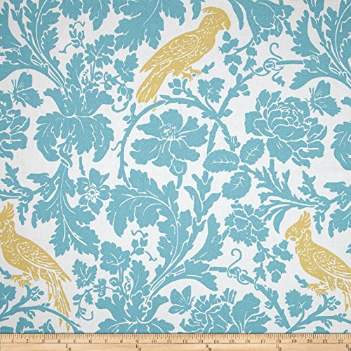 Premier Prints Barber Coastal Blue/Saffron Fabric By The Yard (Coastal Fabrics For Upholstery)