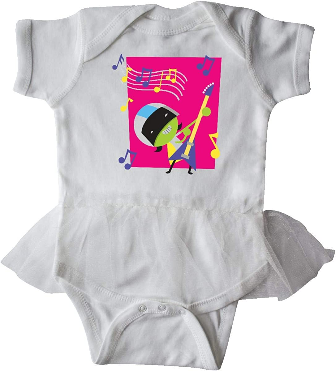 inktastic Dee Rocking Out with Electric Guitar Infant Tutu Bodysuit PBS Kids