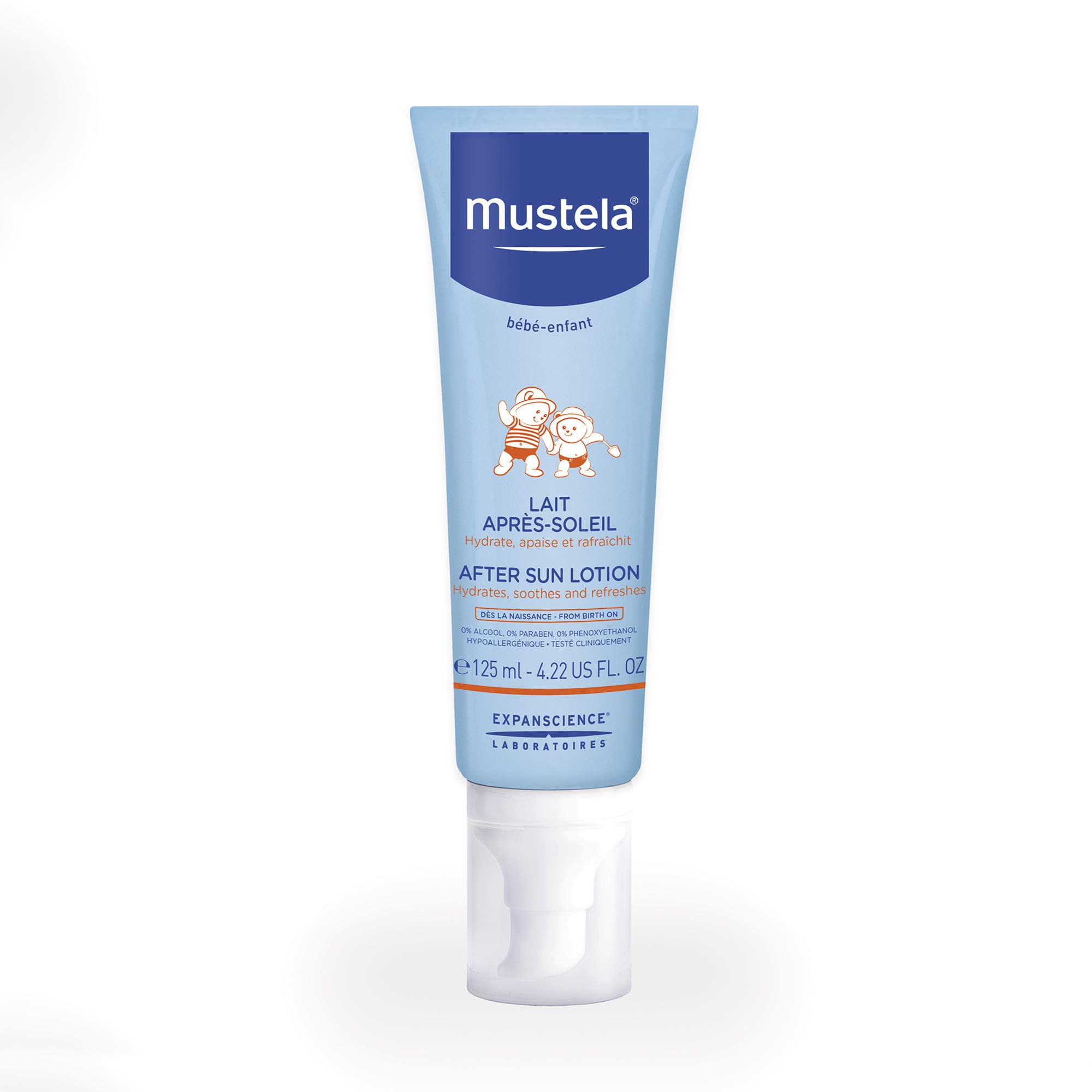 Mustela After Sun Lotion for Baby, with Natural Avocado Perseose, Soothes and Refreshes Skin, 4.22 Ounce by Mustela