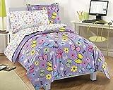Dream Factory Sweet Butterfly Ultra Soft Microfiber Comforter Set, Purple, Full