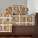 How Big Is a King Bed Roostery Citrus 4pc Sheet Set Steampunk Lemons - How Lemonade Is Made - Full Steam Ahead Big by Glimmericks King Sheet Set made with