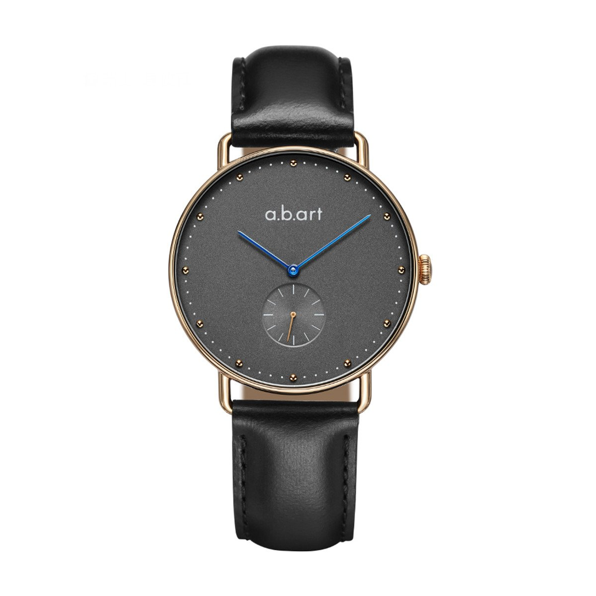 abart Her Watches FR36-004-1L Grey Dial Rose Gold Case Leather Watches (Black Lido Strap)