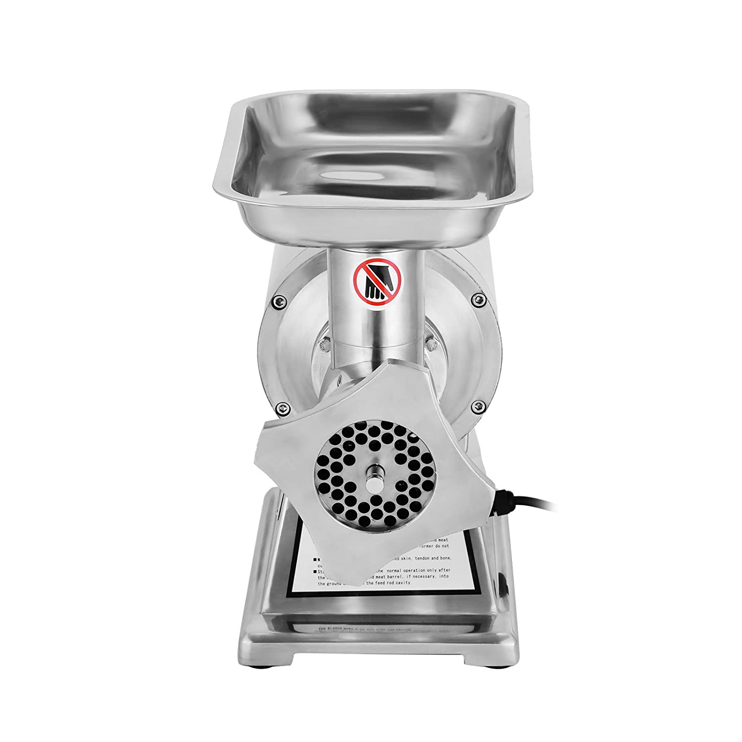 Happybuy Electric Meat Grinder Mincer 1100W Commercial Sausage Stuffer Maker Stainless Steel 220 RPM 1.5HP for Industrial and Home Use