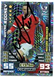 WAYNE ROONEY SIGNED Topps Match Attax Manchester United Soccer Trading Card Auto. Genuine Autograph! COA