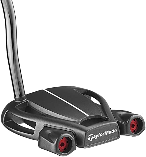TaylorMade 2018 Spider Tour Black Putter Double Bend, Right Hand, 35 Inches, with Sightline , Black Red Gray