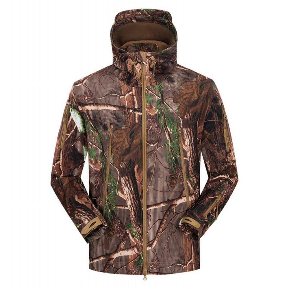 C L YG Veste De Ski Soft Shell Hiver pour Hommes Sports De Plein Air Camouflage Polaire épaissir Al Robe Veste à Capuchon