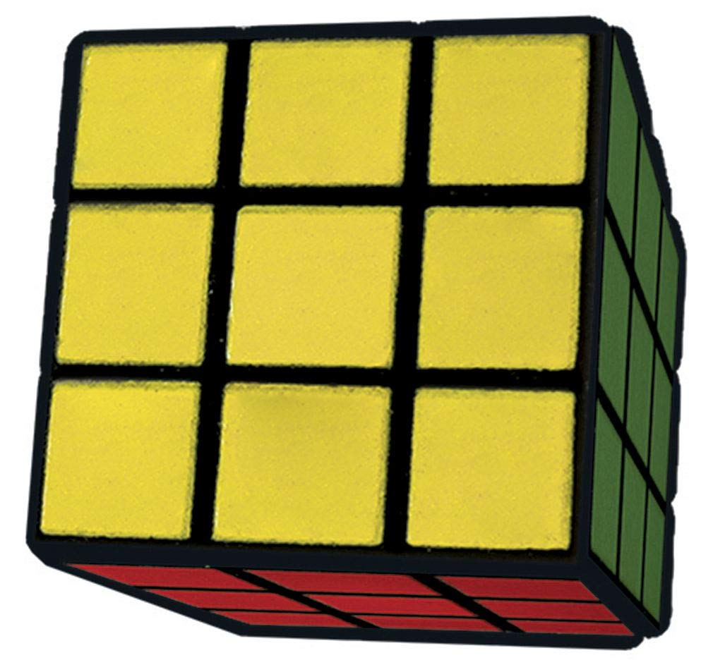 755-027 iscream Old School Rubiks Cube Set of 4 3D Mini Erasers The Mines Press Inc