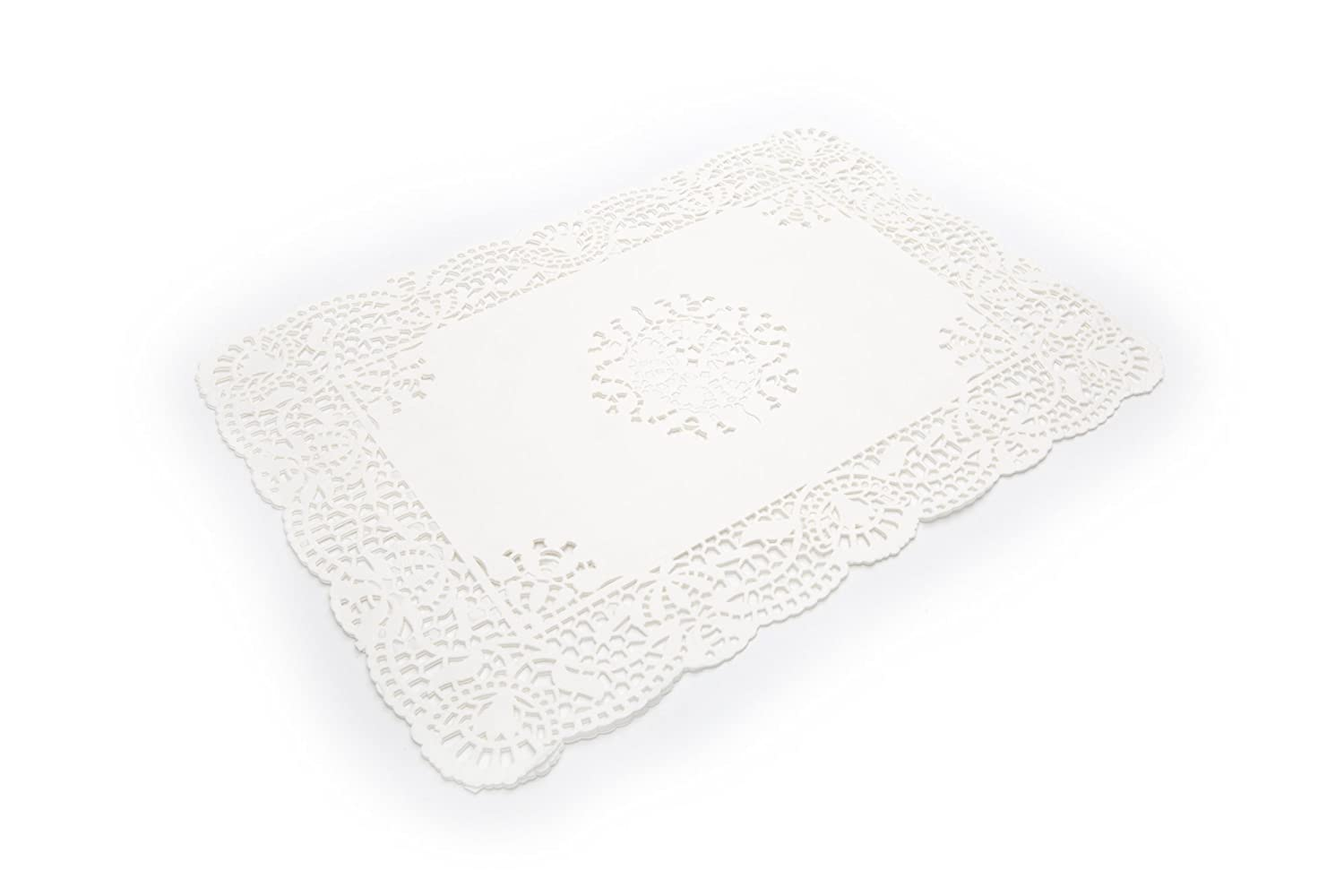 Amazon.com: Fox Run 4386 Rectangular Paper Lace Doilies, Pack of 12:  Kitchen & Dining