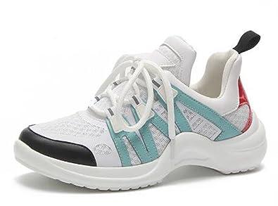 plus récent a5b90 3e952 LFEU Femme Chaussure de Sport pour Running Course Basket ...