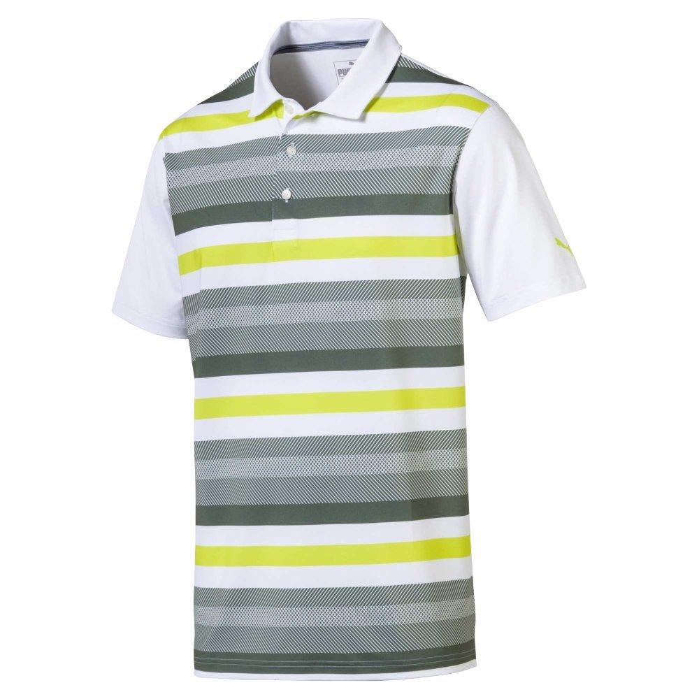 Puma Herren 576923 Turf Shirt, X-Large, Bright Weiß-Laurel Kranz Polo