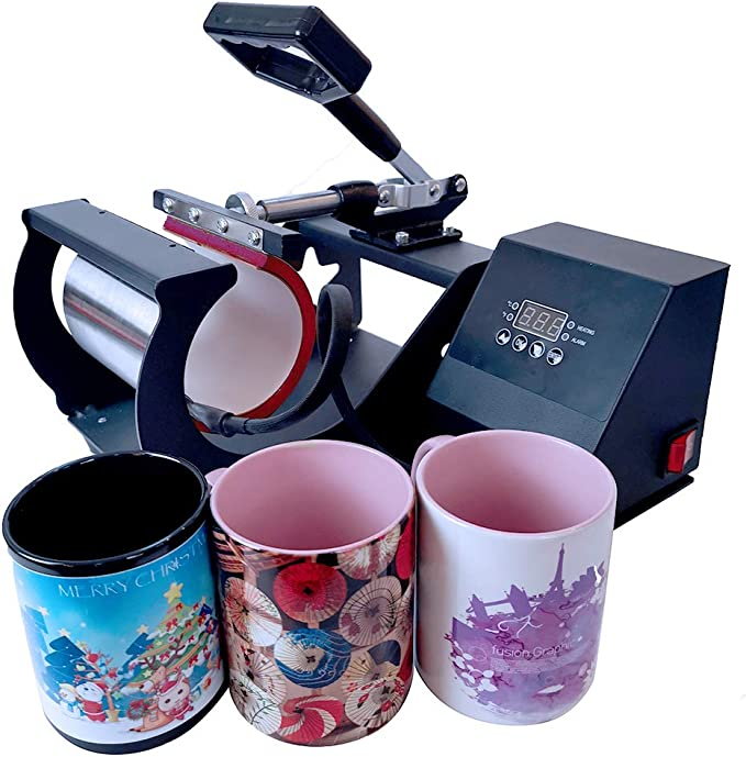 MateMug-11OZ for hp230b and 001-HP230N-2-S 11OZ MugMate Mug Press Machine Heat Transfer Sublimation Mug Heat Press Transfer Printing Mug Attachment for Coffee Mugs Cups