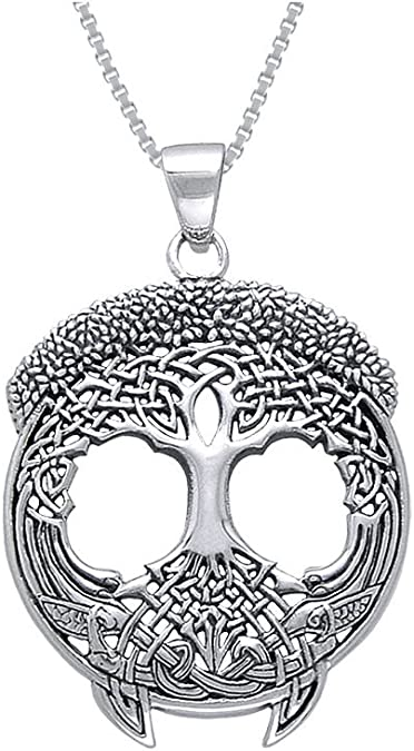 Courtney Davis Tree of Life .925 Sterling Silver Boxed Set Earrings Pendant