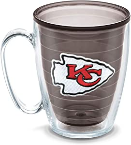 Tervis 1086029 NFL Kansas City Chiefs Emblem Individual Mug, 16 oz, Quartz